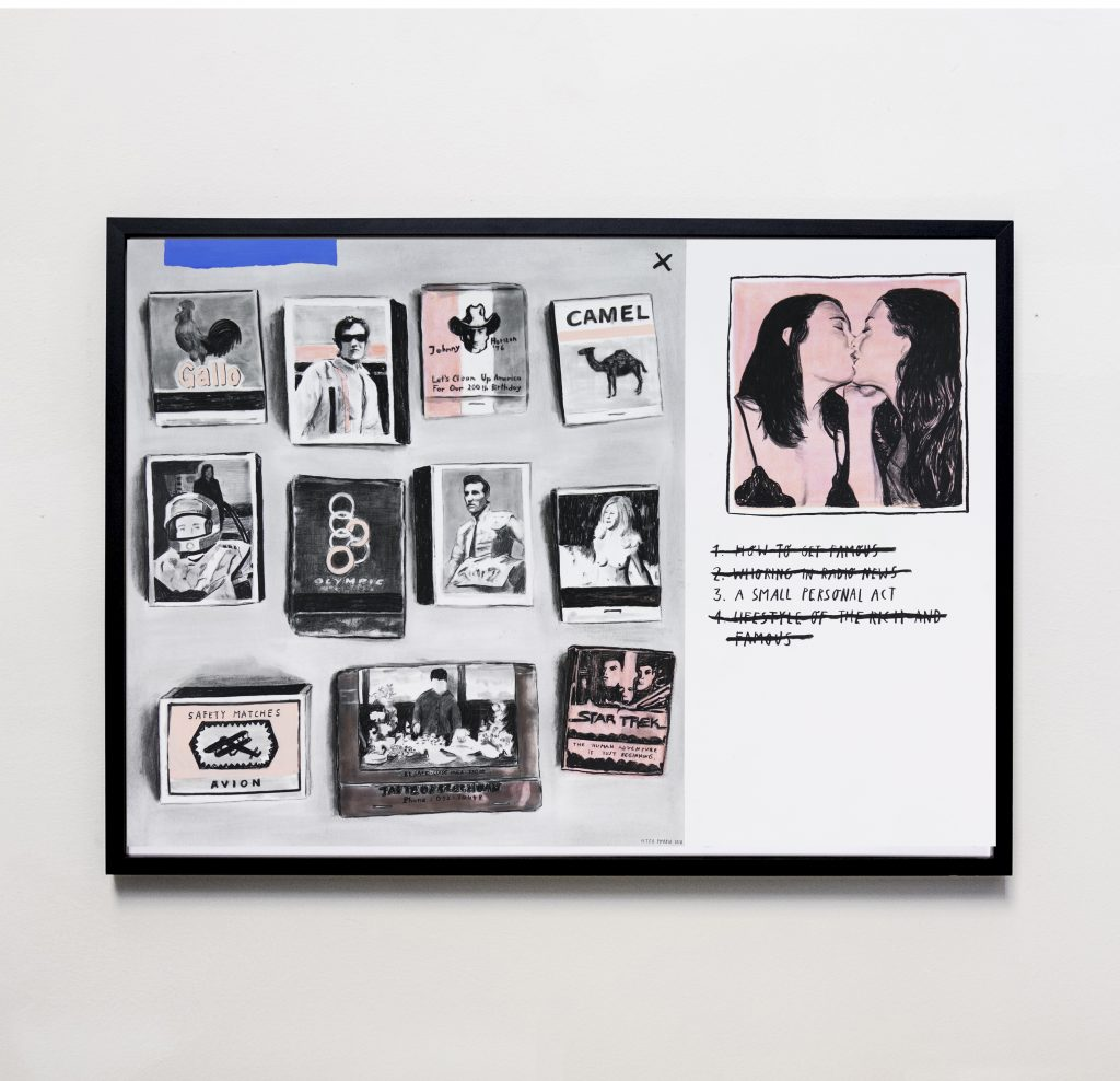 charcoal acrylic on paper kunstwerke online kaufen. Black Bedroom Furniture Sets. Home Design Ideas